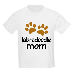 Cute Labradoodle Mom Kids Light T-Shirt