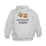 Cute Labradoodle Mom Kids Hoodie