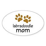 Cute Labradoodle Mom Sticker (Oval)