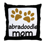 Cute Labradoodle Mom Throw Pillow