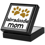 Cute Labradoodle Mom Keepsake Box