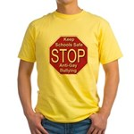 Stop Anti-Gay Bullying Yellow T-Shirt