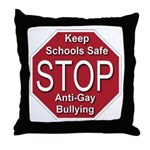 Stop Anti-Gay Bullying Throw Pillow