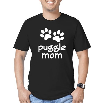 Cute Puggle Mom Men's Fitted T-Shirt (dark)