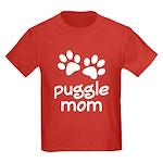 Cute Puggle Mom Kids Dark T-Shirt