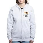 Cute Puggle Mom Women's Zip Hoodie