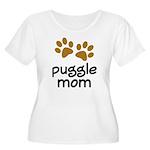 Cute Puggle Mom Women's Plus Size Scoop Neck T-Shi