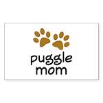 Cute Puggle Mom Sticker (Rectangle)