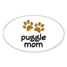 Cute Puggle Mom Decal
