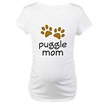 Cute Puggle Mom Maternity T-Shirt