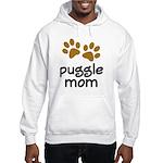 Cute Puggle Mom Hooded Sweatshirt