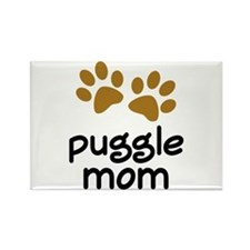 Cute Puggle Mom Rectangle Magnet