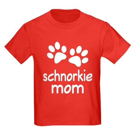 Cute Schnorkie Mom Kids Dark T-Shirt