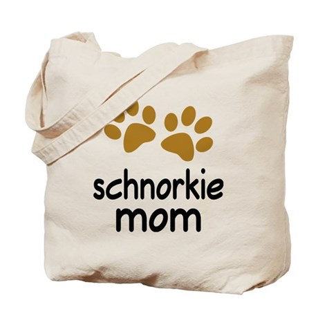 Cute Schnorkie Mom Tote Bag