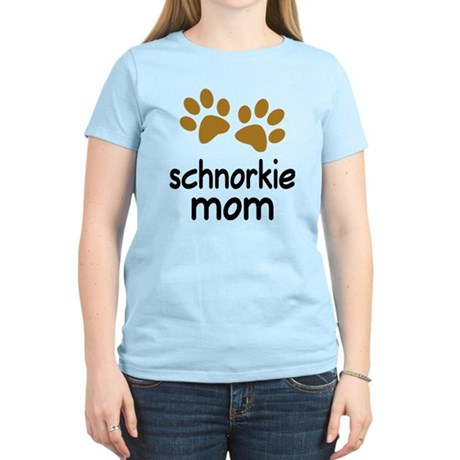 Cute Schnorkie Mom Women's Light T-Shirt