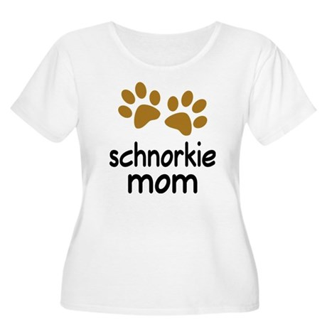 Cute Schnorkie Mom Women's Plus Size Scoop Neck T-