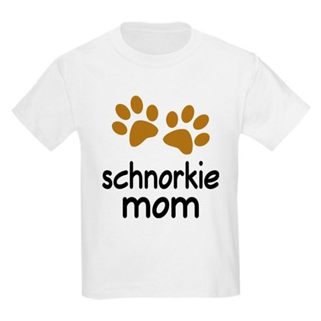 Cute Schnorkie Mom Kids Light T-Shirt