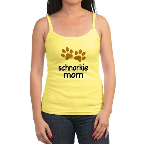 Cute Schnorkie Mom Jr. Spaghetti Tank