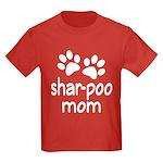 Cute Shar-poo Mom Kids Dark T-Shirt
