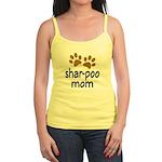 Cute Shar-poo Mom Jr. Spaghetti Tank