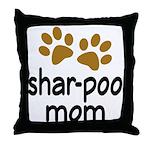Cute Shar-poo Mom Throw Pillow
