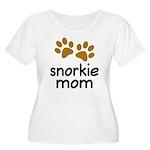 Cute Snorkie Mom Women's Plus Size Scoop Neck T-Sh
