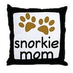 Cute Snorkie Mom Throw Pillow