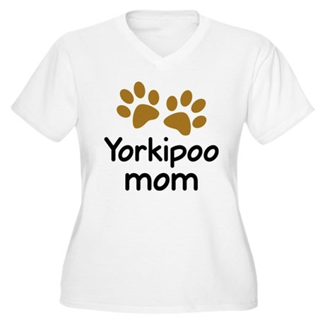 Cute Yorkipoo Mom Women's Plus Size V-Neck T-Shirt