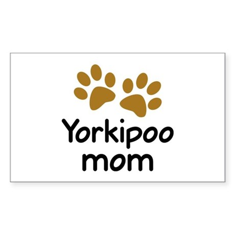 Cute Yorkipoo Mom Sticker (Rectangle)