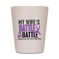 My Battle Too Hodgkin's Lymphoma Shot Glass