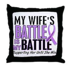 My Battle Too Hodgkin's Lymphoma Throw Pillow