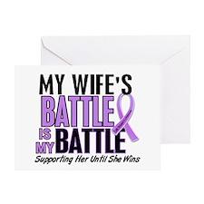 My Battle Too Hodgkin's Lymphoma Greeting Card
