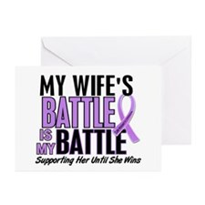 My Battle Too Hodgkin's Lymphoma Greeting Cards (P