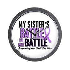 My Battle Too Hodgkin's Lymphoma Wall Clock