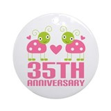 35th Anniversary Gift Ornament (Round)
