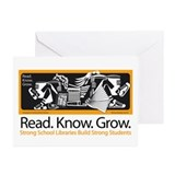 Read.Know.Grow.Libraries. Greeting Cards (Pk of 20