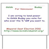 Funny Glk buday Yard Sign