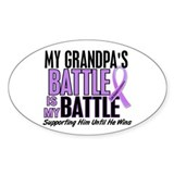 My Battle Too Hodgkin's Lymphoma Decal