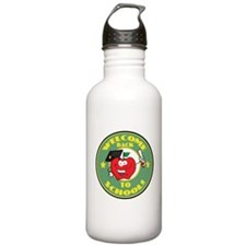 Welcome Back to School Apple Sports Water Bottle