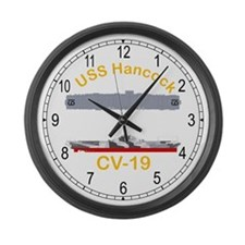 USS Hancock CV-19 Large Wall Clock