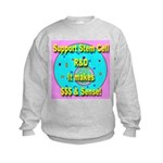 Support Stem Cell R&D It make Kids Sweatshirt