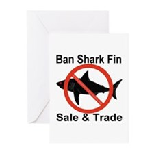 Ban Shark Fin Sale & Trade Greeting Cards (Pk of 1