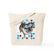 Mod Pug Tote Bag