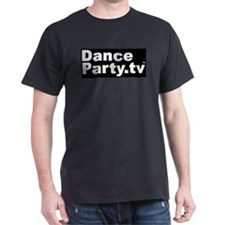 DanceParty.tv Black T-Shirt