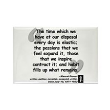 Proust Time Quote Rectangle Magnet (10 pack)