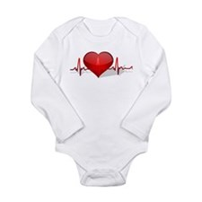 heart beat Long Sleeve Infant Bodysuit