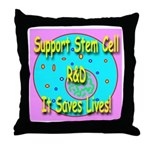 Support Stem Cell R&D It Save Throw Pillow