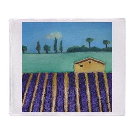 French Lavender Throw Blanket