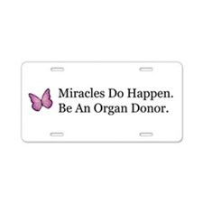 Organ Donation Awareness Aluminum License Plate