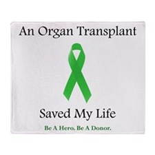 Saving Transplant Throw Blanket